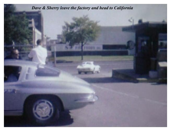 Dave MacDonald, Bob Bondurant & Jerry Grant pick up their new 1963 split-window Corvette Stingrays in St Louis