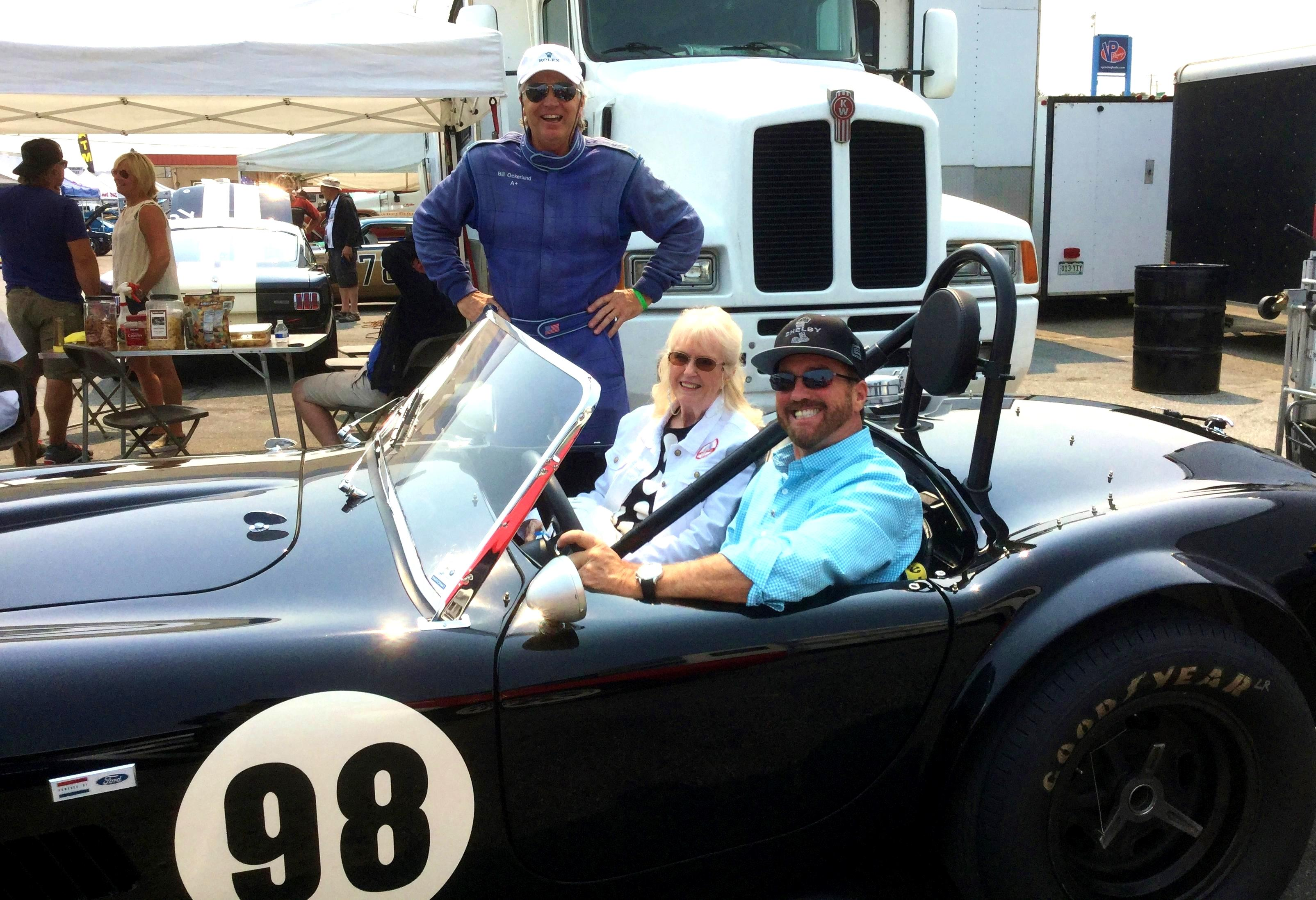 Dave MacDonald races Shelby Cobra 260 to first ever win at Riverside