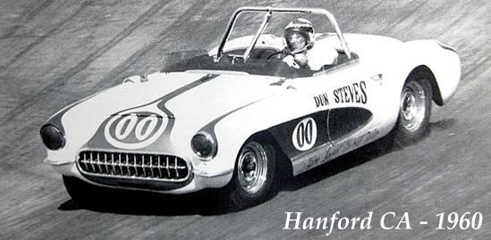 Racer Dave MacDonald in Corvette at Hanford
