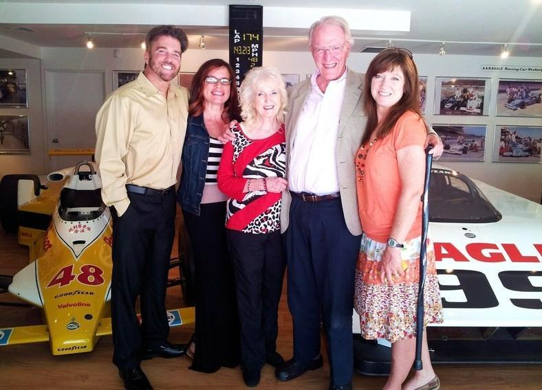Dave MacDonald's family at Dan Gurneys All American Racers in 2014