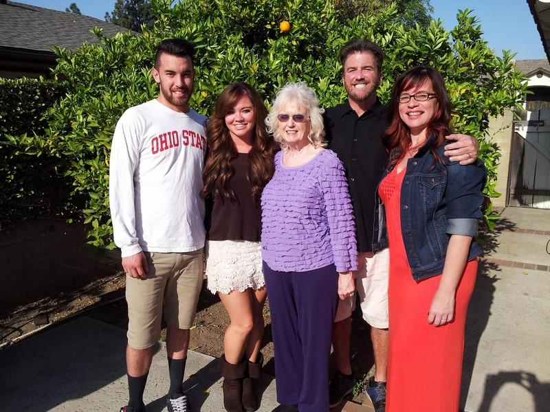 Racer Dave MacDonald's family gather at Easter 2014