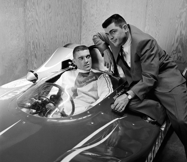 dave macdonald and mickey thompson in 1964 racer