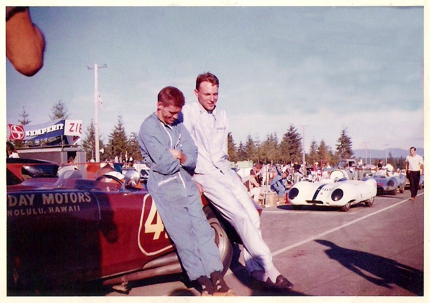 Dave MacDonald and Dan Gurney at Kent SCCA