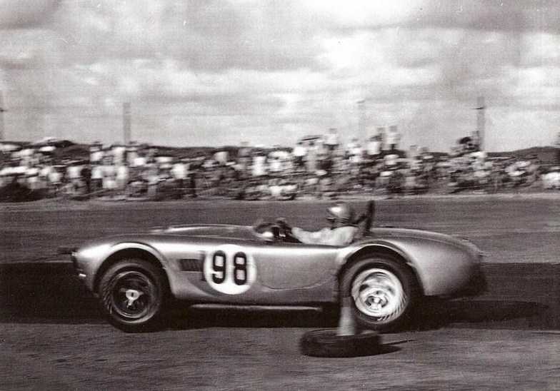 Dave MacDonald pilots Shelby Cobra CSX2136 to a 2nd place finish at the 1963 Hawaiian Grand Prix