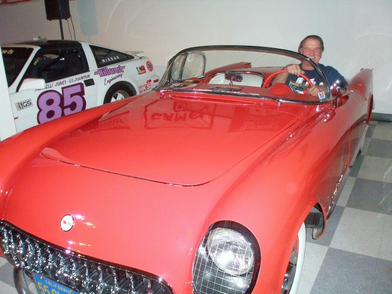 The Dave MacDonald 1955 Corvette at the 2010 Legends of Riverside event