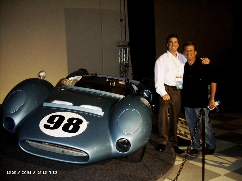 2010 Legends of Riverside event with Dave MacDonald's King Cobra and Carroll Shelby and Dan Gurney and Bob Bondurant