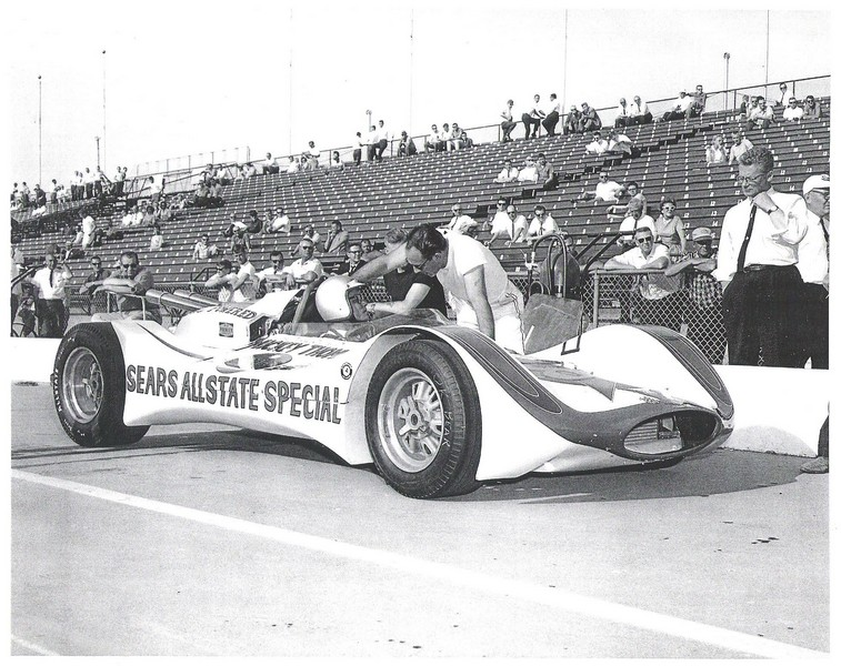 masten gregory in mickey thompson's 1964 indy racer